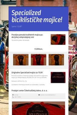 Specialized biciklističke majice!