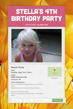 Stella's 4th Birthday Party