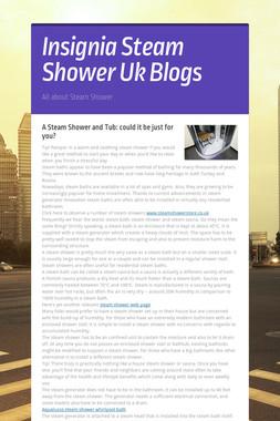 Insignia Steam Shower Uk Blogs