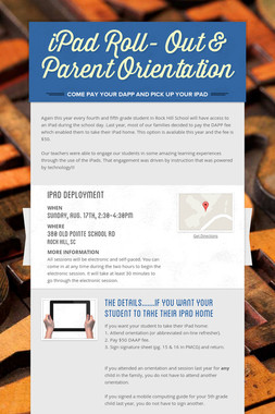iPad Roll- Out & Parent Orientation