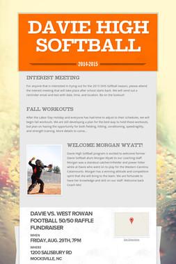 Davie High Softball