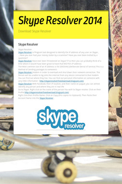 Skype Resolver 2014