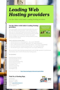 Leading Web Hosting providers