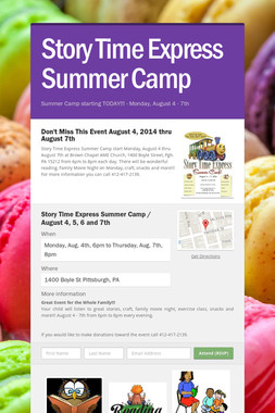 Story Time Express Summer Camp
