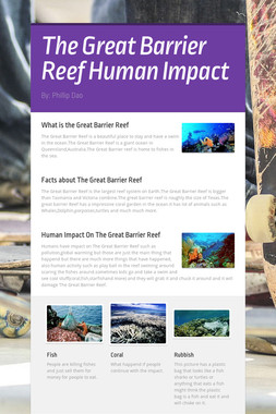The Great Barrier Reef Human Impact