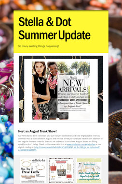 Stella & Dot Summer Update
