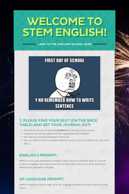 Welcome to STEM English!
