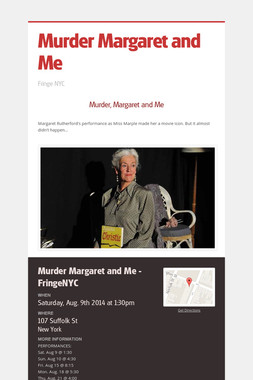 Murder Margaret and Me
