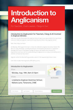 Introduction to Anglicanism