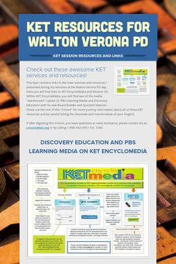 KET Resources for Walton Verona PD