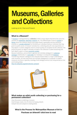 Museums, Galleries and Collections