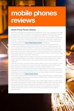 mobile phones reviews