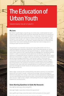 The Education of Urban Youth