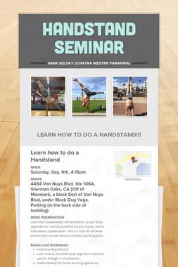 Handstand Seminar