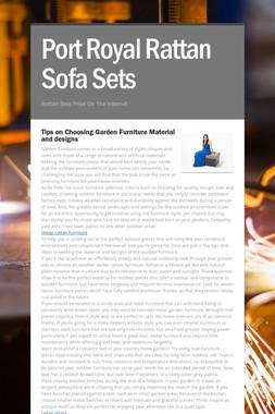 Port Royal Rattan Sofa Sets