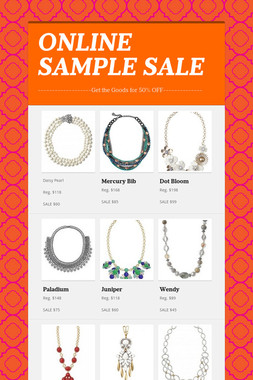 ONLINE SAMPLE SALE