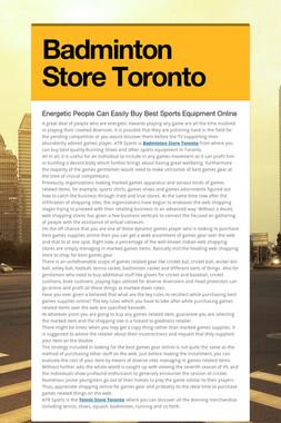 Badminton Store Toronto