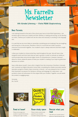 Ms. Farrell's Newsletter