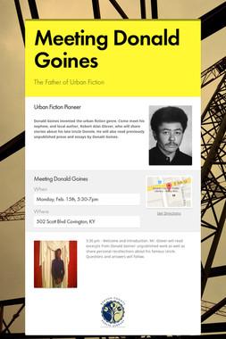 Meeting Donald Goines