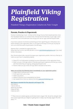 Plainfield Viking Registration