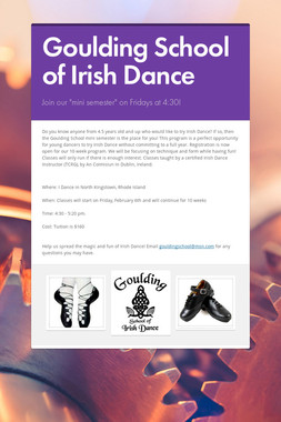 Goulding School of Irish Dance