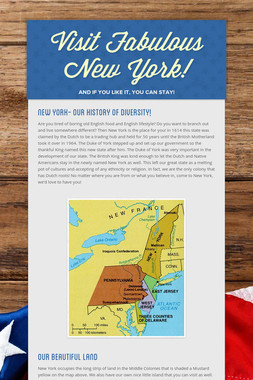Visit Fabulous New York!