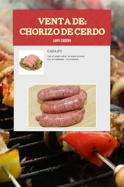 VENTA DE: Chorizo de  cerdo
