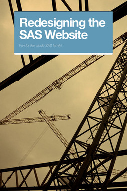 Redesigning the SAS Website