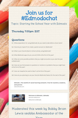Join us for #Edmodochat