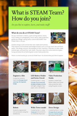 What is STEAM Team?How do you join?