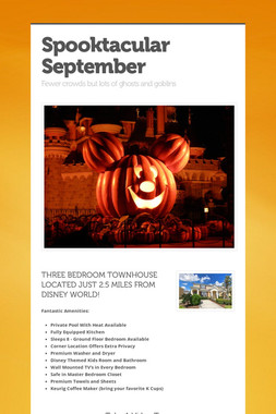 Spooktacular September