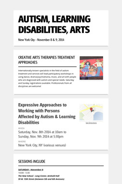 AUTISM, LEARNING DISABILITIES, ARTS