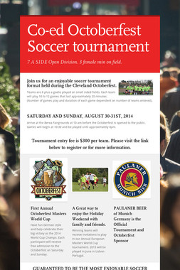 Co-ed Octoberfest Soccer tournament
