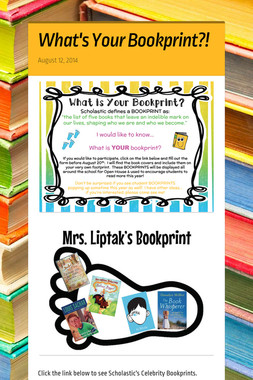 What's Your Bookprint?!