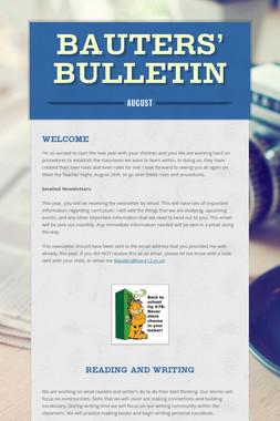 Bauters' Bulletin