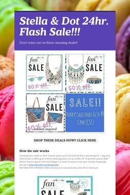 Stella & Dot 24hr. Flash Sale!!!