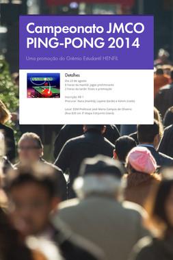 Campeonato JMCO PING-PONG 2014