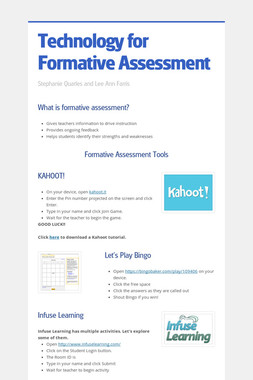 Technology for Formative Assessment