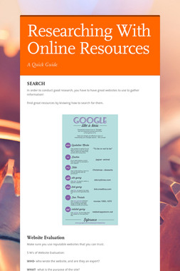 Researching With Online Resources