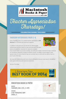 Teacher Appreciation Thursdays!