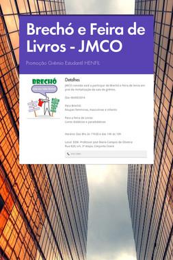 Brechó e Feira de Livros - JMCO