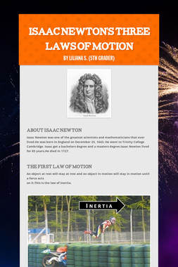 Isaac Newton's Three laws of motion