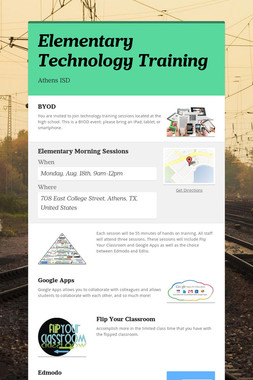 Elementary Technology Training