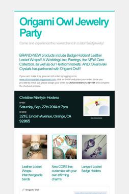 Origami Owl Jewelry Party
