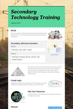Secondary Technology Training