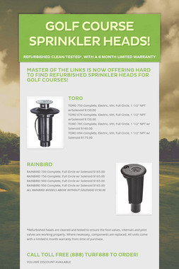 Golf Course Sprinkler Heads!
