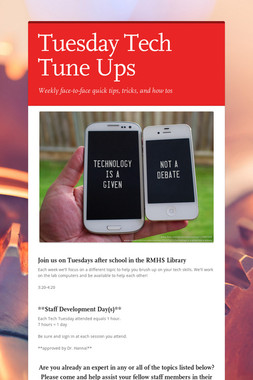 Tuesday Tech Tune Ups