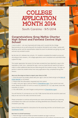 COLLEGE APPLICATION MONTH 2014
