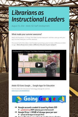Librarians as Instructional Leaders