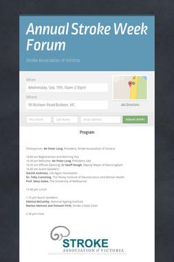Annual Stroke Week Forum